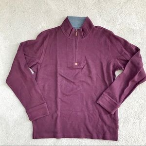 Falls Creek 1/4 zip burgundy pullover sweater XL